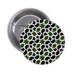 Mosaico 09 de patrón verde y negro de geometría pins