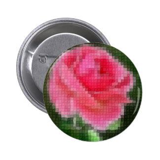Mosaico 2 color de rosa rosados intensos pin