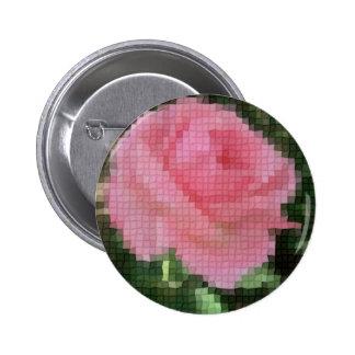 Mosaico 2 color de rosa rosados pins