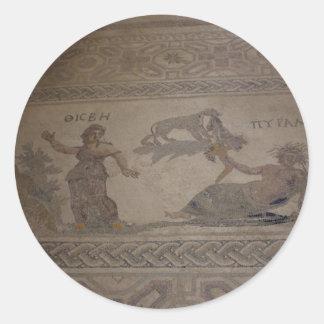 mosaico 3 etiqueta redonda