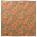 Mosaico abstracto anaranjado alegre de Starburst Servilleta