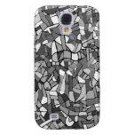 Mosaico abstracto blanco y negro