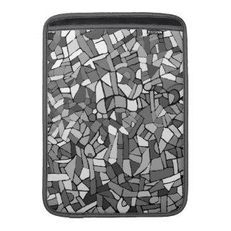 Mosaico abstracto blanco y negro fundas para macbook air