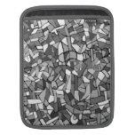 Mosaico abstracto blanco y negro funda para iPads