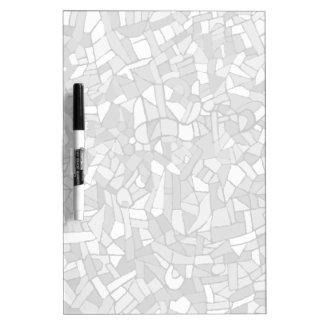Mosaico abstracto blanco y negro pizarras blancas