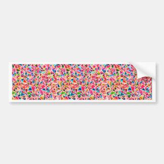 Mosaico abstracto colorido lindo de moda pegatina para auto