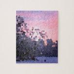 Mosaico abstracto de los árboles de la puesta del  puzzles