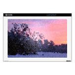 Mosaico abstracto de los árboles de la puesta del  portátil calcomanía