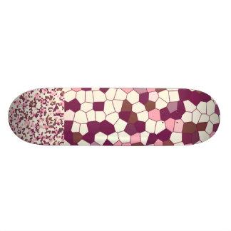 Mosaico abstracto del pastel de queso del arándano skateboards