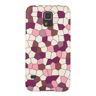 Mosaico abstracto del rosa del ciruelo del pastel  carcasas para galaxy s5