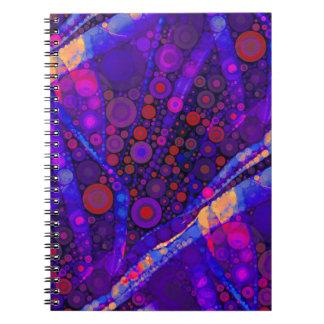Mosaico abstracto fresco de los círculos concéntri libretas