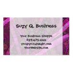 Mosaico abstracto púrpura bonito de los círculos c plantillas de tarjeta de negocio