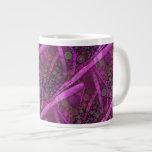 Mosaico abstracto púrpura bonito de los círculos c taza jumbo