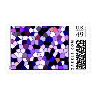 Mosaico abstracto púrpura del vitral sellos