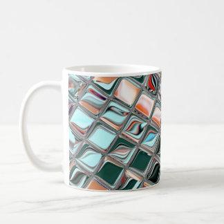 Mosaico acentuado de la menta taza