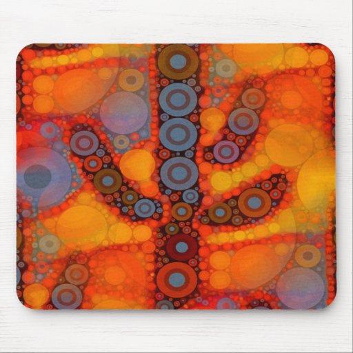 Mosaico al sudoeste púrpura anaranjado del cactus tapete de ratones