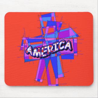 Mosaico americano cristiano tapete de raton
