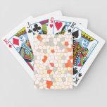 Mosaico anaranjado blanco de la plata abstracta de baraja cartas de poker