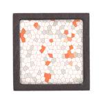 Mosaico anaranjado blanco de la plata abstracta de cajas de joyas de calidad