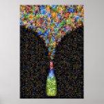 Mosaico artístico Explosión de Cócteles Posters