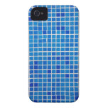 Mosaico azul abstracto iPhone 4 coberturas