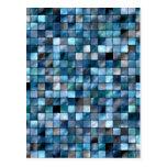 Mosaico azul de tejas tarjetas postales