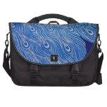 Mosaico azul del pavo real bolsas para portátil