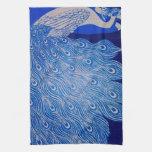 Mosaico azul del pavo real toallas