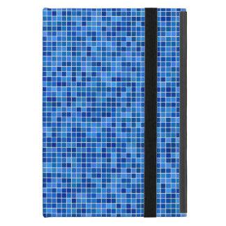 Mosaico azul del pixel iPad mini fundas