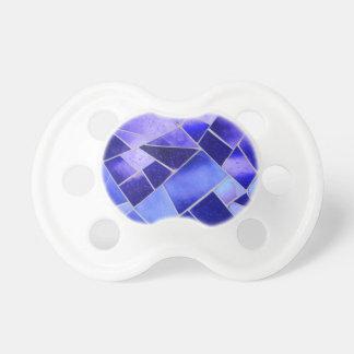 Mosaico azul eléctrico chupete de bebe