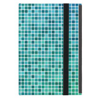 Mosaico azulverde del pixel iPad mini cárcasas