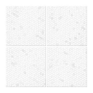 Mosaico blanco impresiones de lienzo
