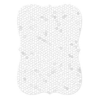 """Mosaico blanco invitación 5"""" x 7"""""""