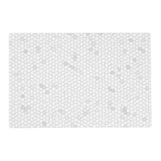 Mosaico blanco salvamanteles