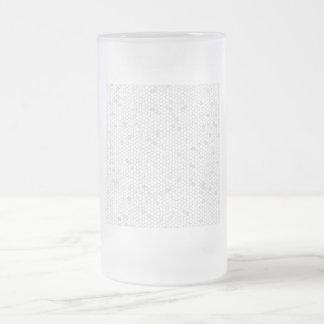Mosaico blanco taza de cristal