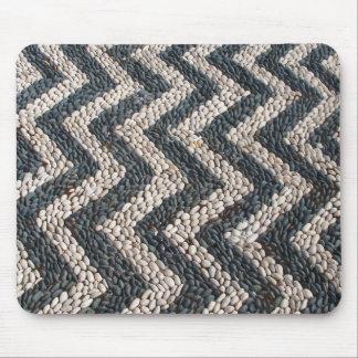 Mosaico blanco y negro del guijarro en GRECIA Mousepads