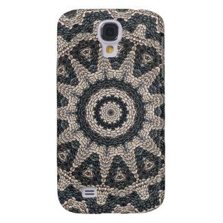 Mosaico blanco y negro griego de Rodas Funda Para Galaxy S4