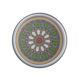 Mosaico bonito de la teja de la flor de la altavoz
