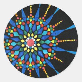 Mosaico brillante de la piedra preciosa en los