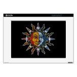 Mosaico celestial Sun y luna Calcomanía Para Portátil