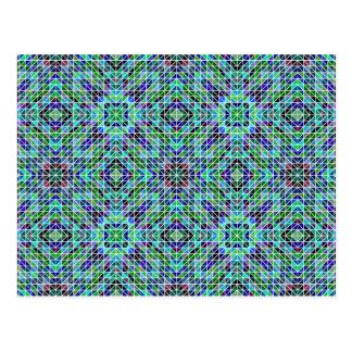 Mosaico coloreado del triángulo postal
