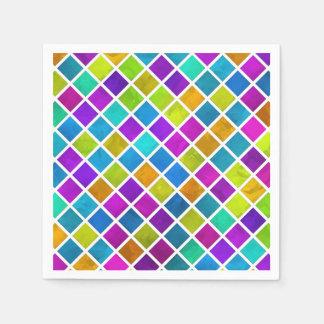 Mosaico coloreado multi de la joya servilleta desechable