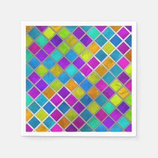 Mosaico coloreado multi de la joya servilletas de papel
