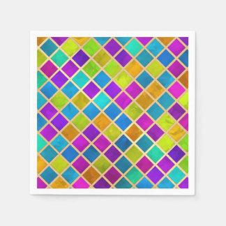 Mosaico coloreado multi de la joya servilletas desechables