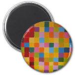 Mosaico colorido abstracto imán para frigorifico
