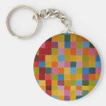 Mosaico colorido abstracto llaveros personalizados