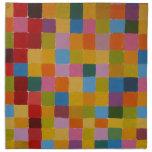 Mosaico colorido abstracto servilletas de papel