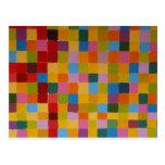 Mosaico colorido abstracto tarjetas postales