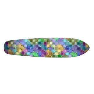 Mosaico colorido de la teja de los remiendos del p patinetas personalizadas