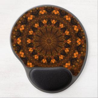 Mosaico colorido del caleidoscopio alfombrilla con gel